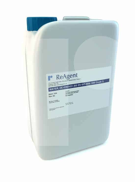 Lab water grade 3 25L packsize 1
